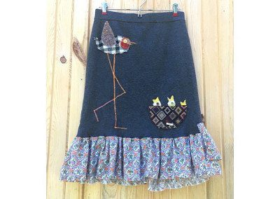 Happy Family Upcycled Skirt
