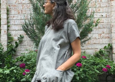 Grey Cube Tunic - Brilliant Stranger Clothing - a collaboration with Nepalese Fair Trade Artisans