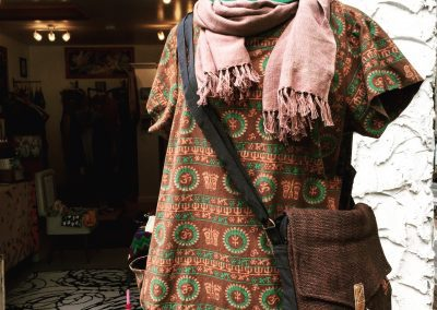 Brown Om Tunic - Brilliant Stranger Clothing - a collaboration with Nepalese Fair Trade Artisans