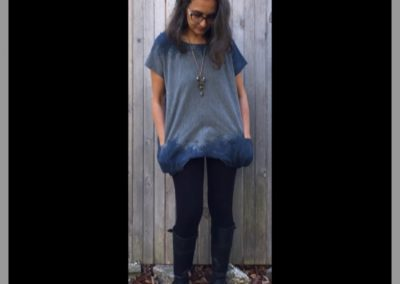Blue Grey Tunic - Brilliant Stranger Clothing - a collaboration with Nepalese Fair Trade Artisans