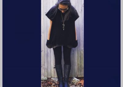 Black dip Tunic Brilliant Stranger Clothing - a collaboration with Nepalese Fair Trade Artisans