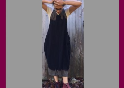 Black Dip Sundress - Brilliant Stranger Clothing - a collaboration with Nepalese Fair Trade Artisans
