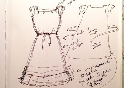 Sketchbook: custom dress designs