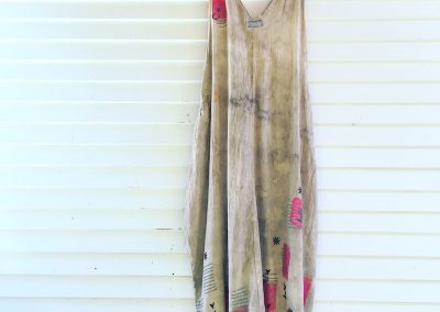 Happy Blockprints Dress: fair trade cotton, mordant dyed and blockprinted