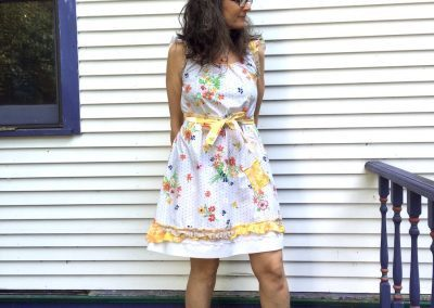 Country Print Dress: vintage sheets