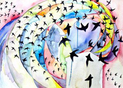 Spiral of birds 2015