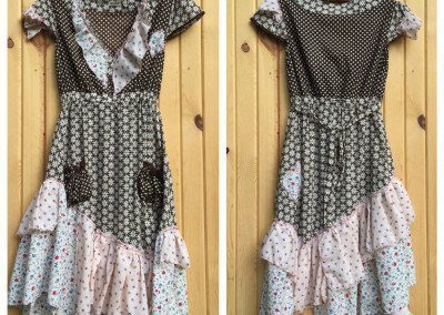 Ruffled upcycled dress